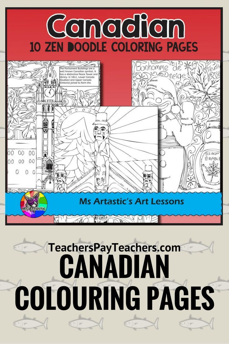 """Educational, artistic, canadian colouring pages designed to represent all different aspects of Canada. These colouring sheets are great to use with a socials studies unit, in art, morning work, a back to school activity, or as a """"when-you're-done"""".   Mind"""