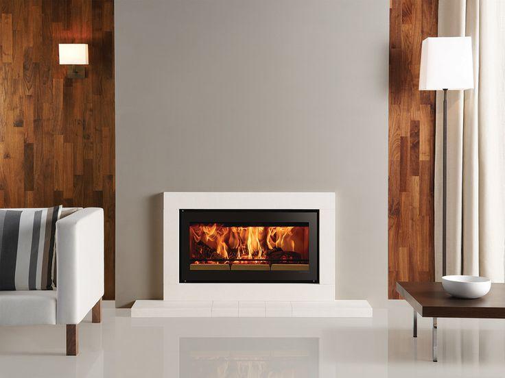 Hearth incendios montadas quema de madera - Stovax - Gazco (Los detalles completos Stockton, ventajas calefacción independiente)