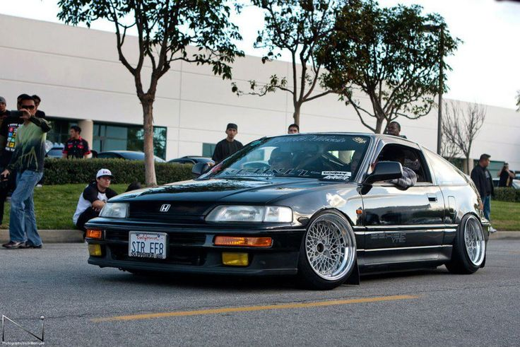 Jdm Crx Black Jdm Hondas Pinterest Wheels