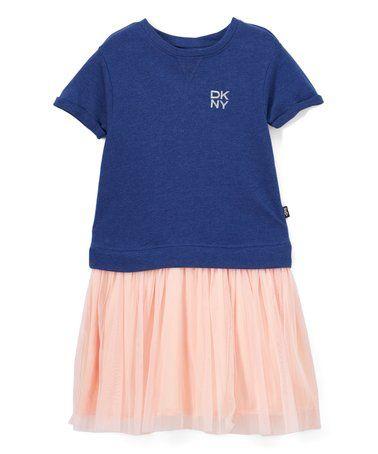 This Navy & Peach Drop-Waist Dress - Infant, Toddler & Girls is perfect! #zulilyfinds