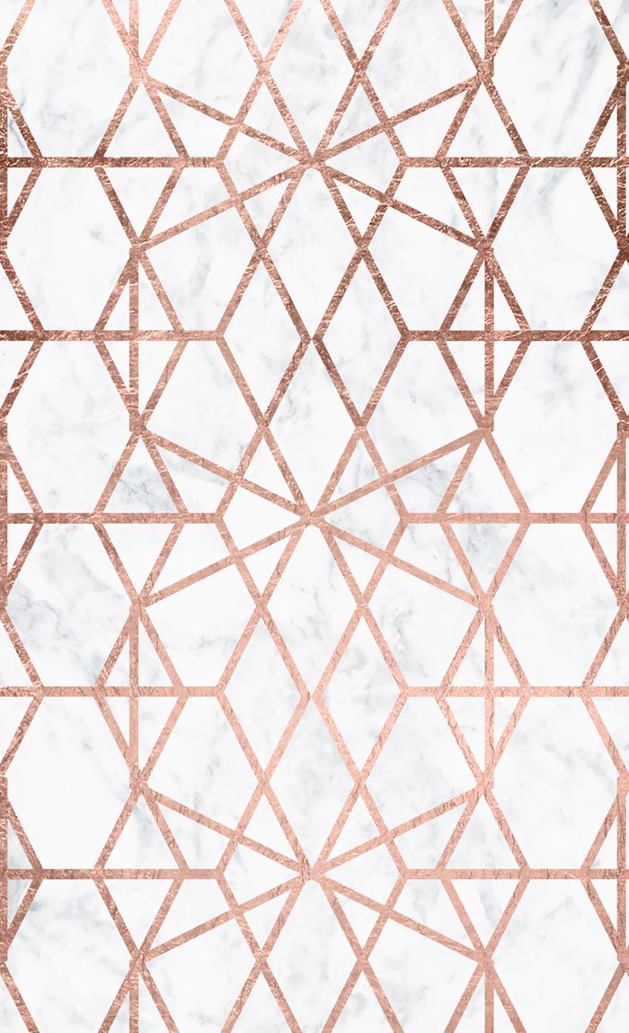 Geometric Modern Abstract Stripes Lines Rose Gold White