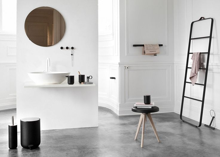 This bathroom styled for Copenhagen-based Norm Architects new design 'The