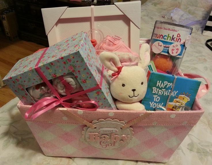 Baby Girl Gift Ideas Diy : Diy baby girl gift basket pop up book stuffed animal