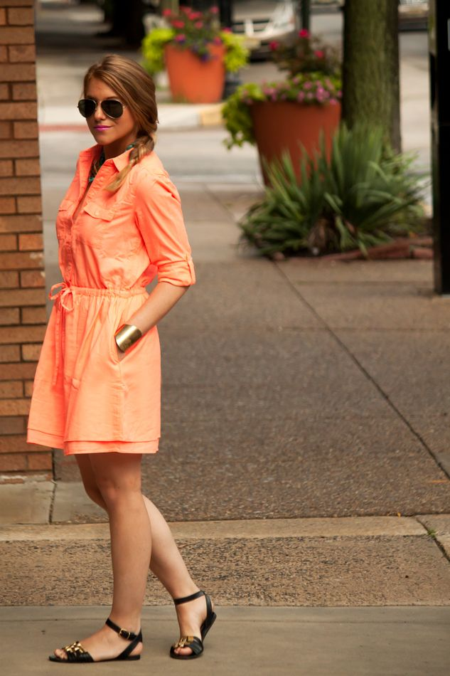 A Gap dress as featured on the blog @Raving Fashionista.