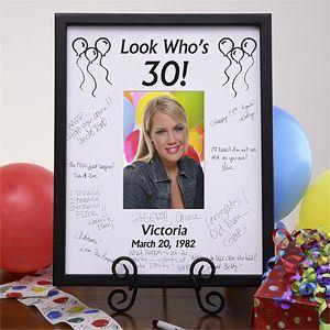 Birthday Wishes Signature Mat Frame Non Food Birthday