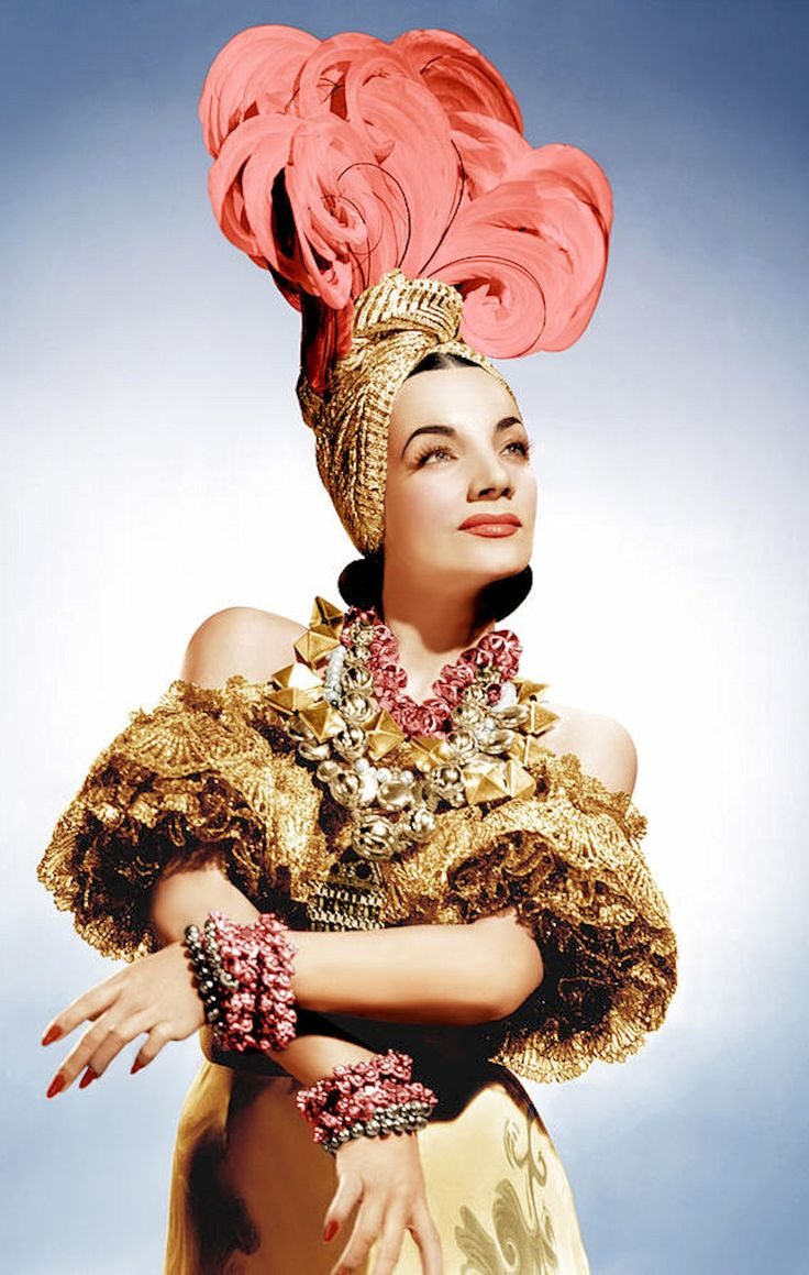 "Carmen Miranda in ""That Night in Rio"" (1941) Costume design by Travis Banton."