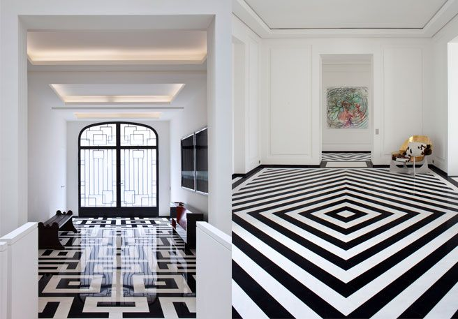 Best Black-and-White Tile - Pierre Yovanovitch Designs - ELLE DECOR