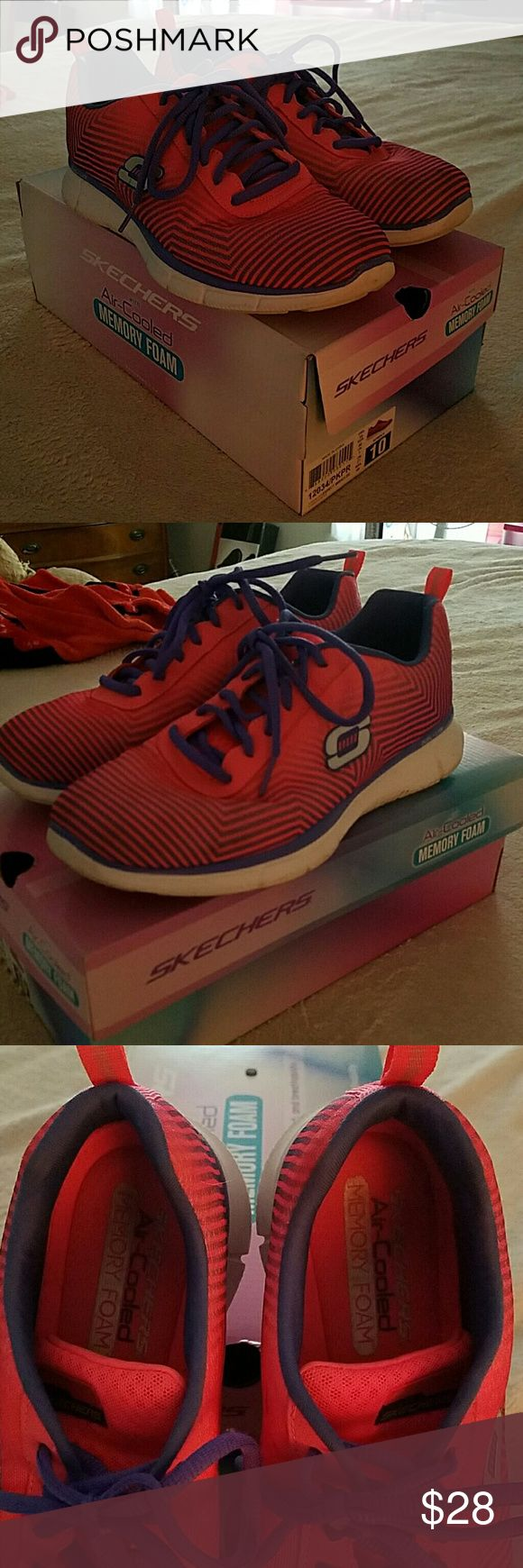 Skechers air cooled memory foam Size 10 worn for work. Still good shape. Skechers Shoes Slippers