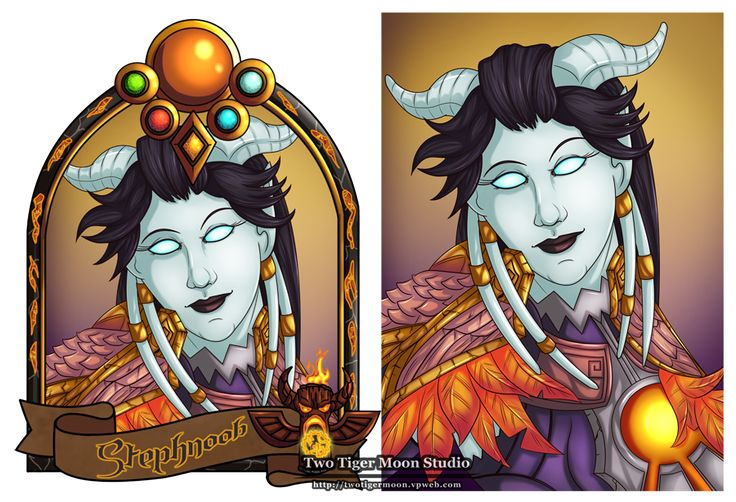 Blizzcon badge and portrait for Stephnoob over on Twitter of her Draenei Shaman.