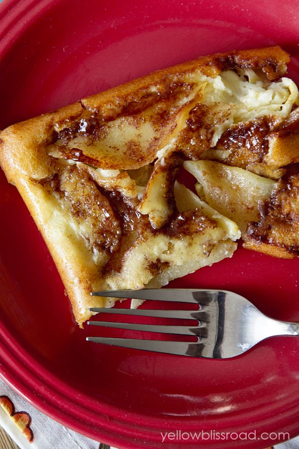 Apple Oven Pancake - Yellow Bliss Road - I'd replace flour with coconut flour and adjust recipe accordingly (using coconut flour conversion chart).