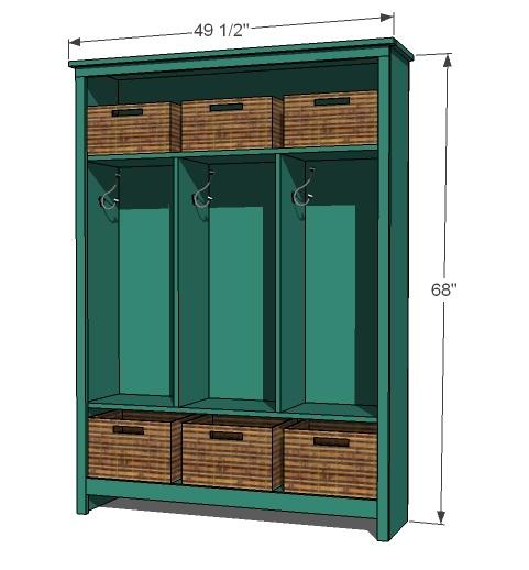 Mudroom Storage Woodworking Plans : Simple garage storage cabinet plans woodworking projects