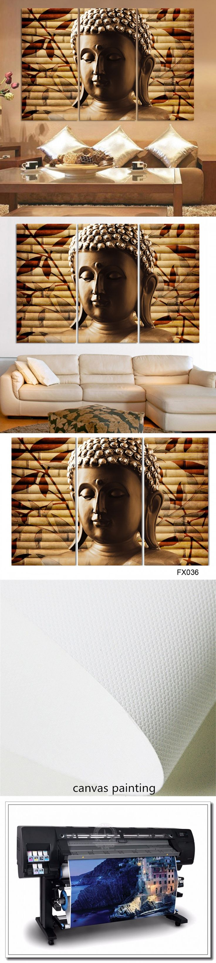 3pieces Classical Buddha Painting Solemn Buddhism Wall Canvas Art Asian Religion Ancient Picture For House Decoration Unframed $16.24