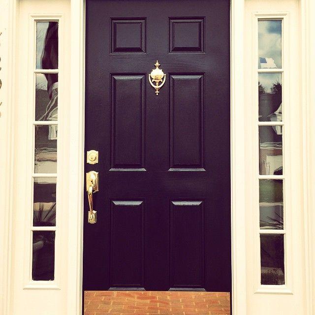 Front Door Black Paint Color