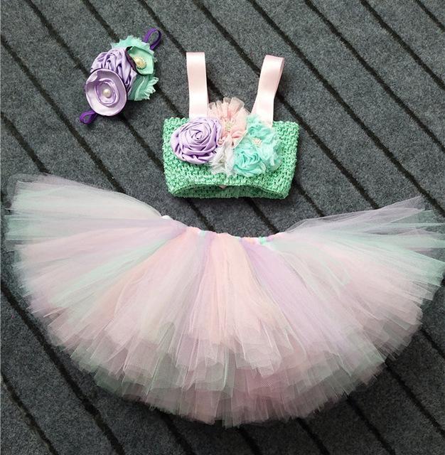 Girls Second 2nd Birthday Outfit Tutu Cake Smash Photo Shoot Tiara Party Dress