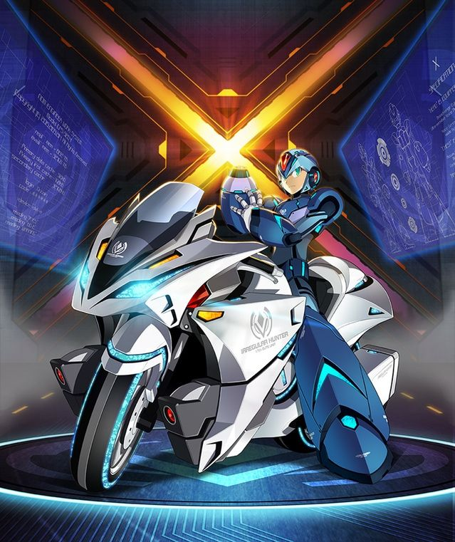 Ride Chaser Print - Mega Man