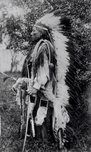 Esa Rosa (aka White Wolf), brother-in-law of Tabananica - Kwahadi Comanche - circa 1895