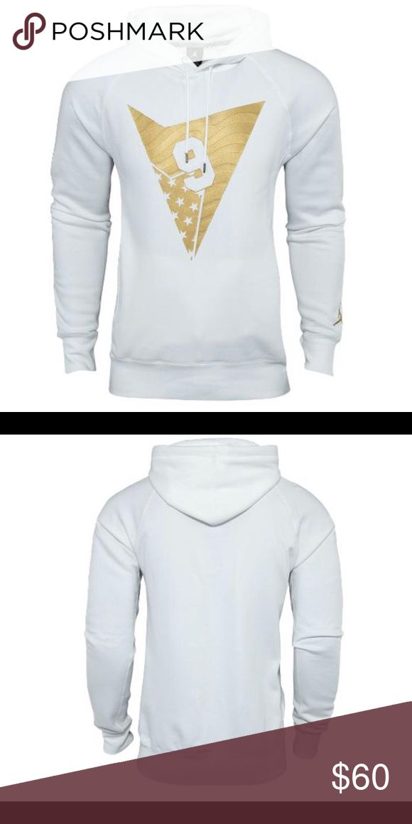 Jordan Aj 7 Pullover Hoodie Nike Air Jordan VII 7 Retro Pull Over Hoodie                    Fleece Gold White Size L  Fleece comfort, classic style. 76% cotton 24% polyester. Nike Shirts Sweatshirts & Hoodies