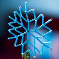 Un flocon de neige avec des morceaux de paille - Marie Claire Idées