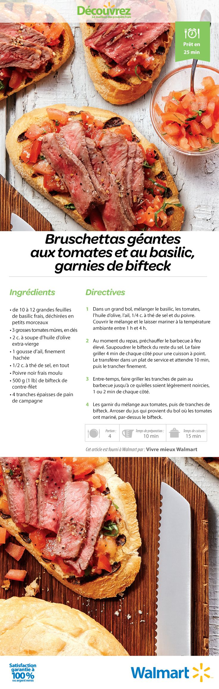 Les bruschettas sont tendance cette saison. Nous ajoutons du contre-filet dans notre recette! #IdéesDeRecettes #RecettesEstivales #RecettesDeBruschettas #bruschetta #RecettesDeContreFilets #RecettesDeSandwich