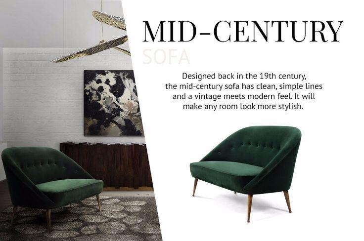 How To Pick The Type Of Modern Sofas That Works Better For You | Velvet Sofa. MidCentury Sofa. Living Room Ideas. Read more: http://modernsofas.eu/2017/05/03/pick-type-modern-sofas-works-better/