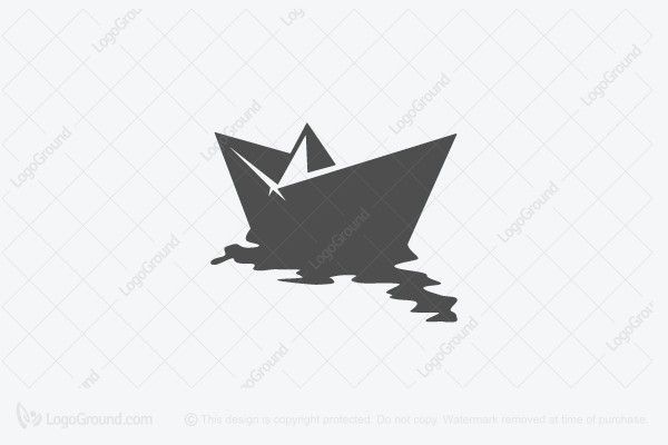 Paper Boat Logo Paper Boat Colorful Animal Paintings Graphic Design Logo