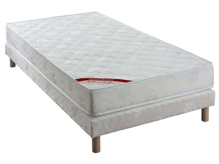Matelas + sommier 90x190 cm CONFO BED ACCES - Vente de Literie de relaxation - Conforama