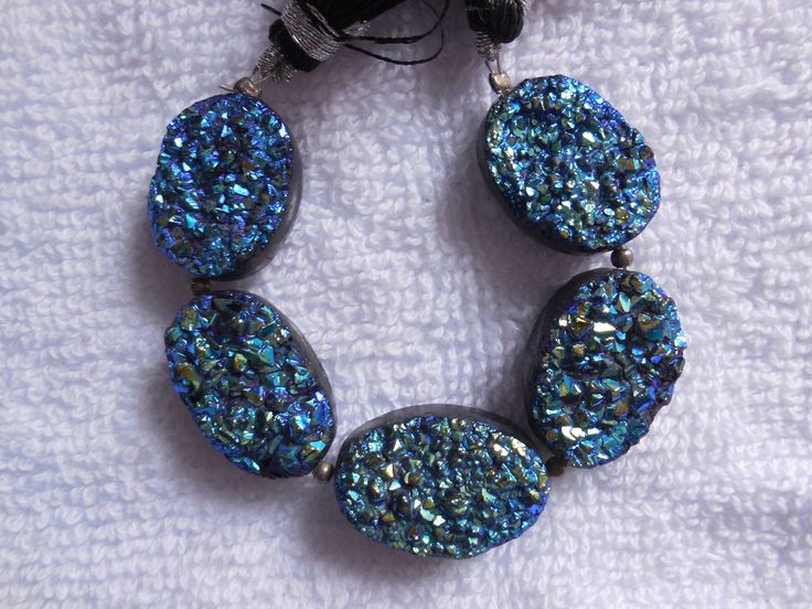 5Psc Pieces Natural Druzy Titanium Coated Oval Cabochon,Druzy sparkle Beads ,Druzy Quartz Pendant bead,Druzy Oval Beads by InternationalByBeads on Etsy