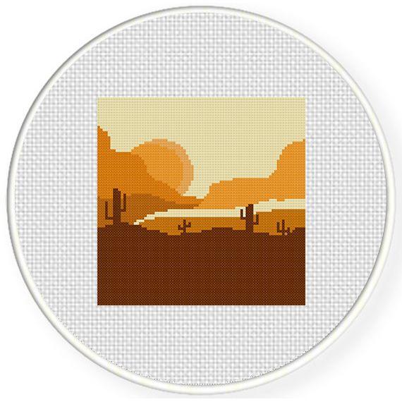 FREE Sunset West Cross Stitch Pattern