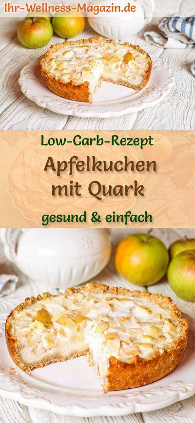 Apfelkuchen mit Quark: kohlenhydratarmes Rezept ohne Zucker und Getreidemehl; gesund, carbo …   – Low Carb Kuchen Rezepte