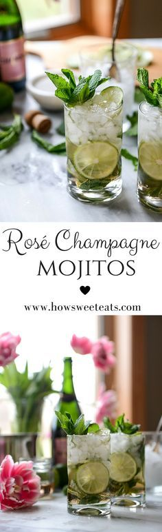 Rosé Champagne Mojitos by @howsweeteats I howsweeteats.com