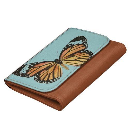 Peach Butterfly wallet
