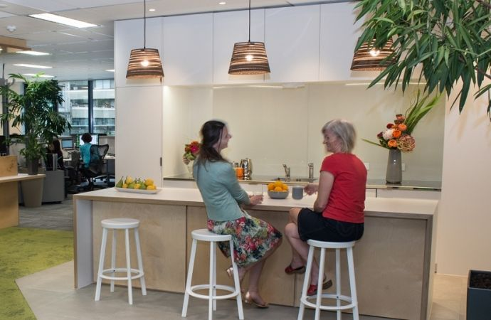 NZGBC Office fit-out. A collaboration between Jasmax and CASA, featuring products from Laminex New Zealand