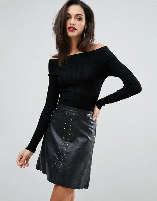 Lipsy   Lipsy 2 In 1 Dress With Faux Leather Skirt