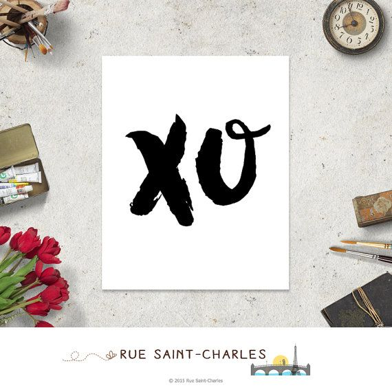 XO print Beyonce XO song printable art xo hugs by RueSaintCharles