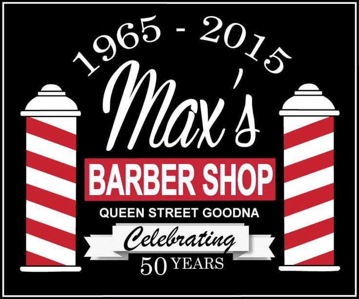 Max's Barber Shop Celebrating 50 Years Queen St, Goodna. Versatometry 2015.
