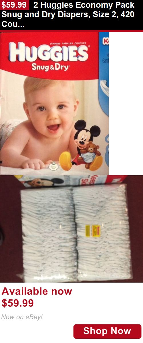 Disposable Diapers: 2 Huggies Economy Pack Snug And Dry Diapers, Size 2, 420 Count Free Ship No Box BUY IT NOW ONLY: $59.99