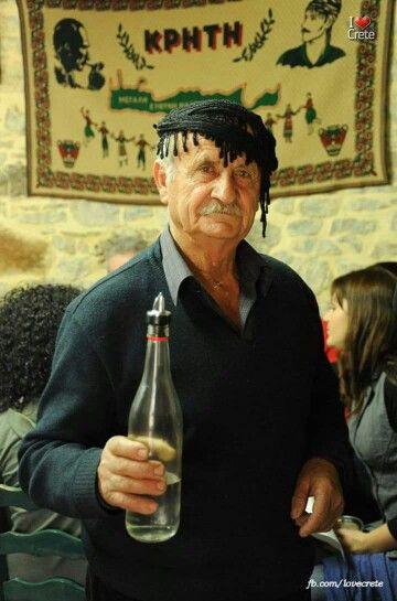 Raki, traditional Cretan drink for everybody,  Greece