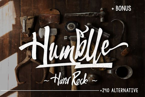 Humblle + Bonus by Dirtyline Studio on Creative Market