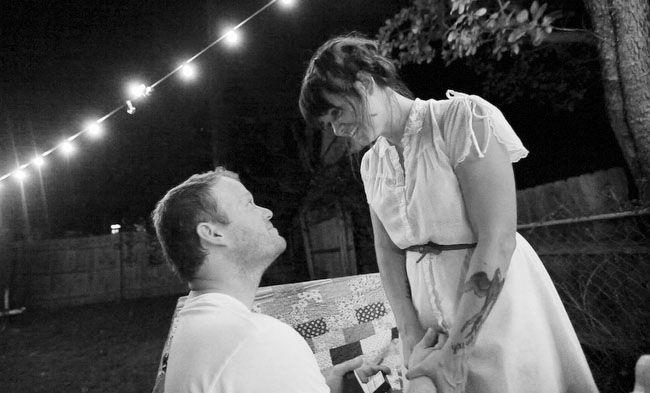 A Surprise Backyard Proposal - awww!