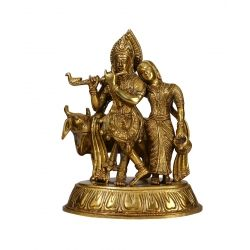 Get Online Brass Radha&Krishna With Cow at Puja Shoppe. Stock Available.Delivered in 3-4 Business Day. Product Price: Rs. 9,499. Shop now: https://www.pujashoppe.com/brass-krishna-radha-ji-with-cow-639.html?___SID=U