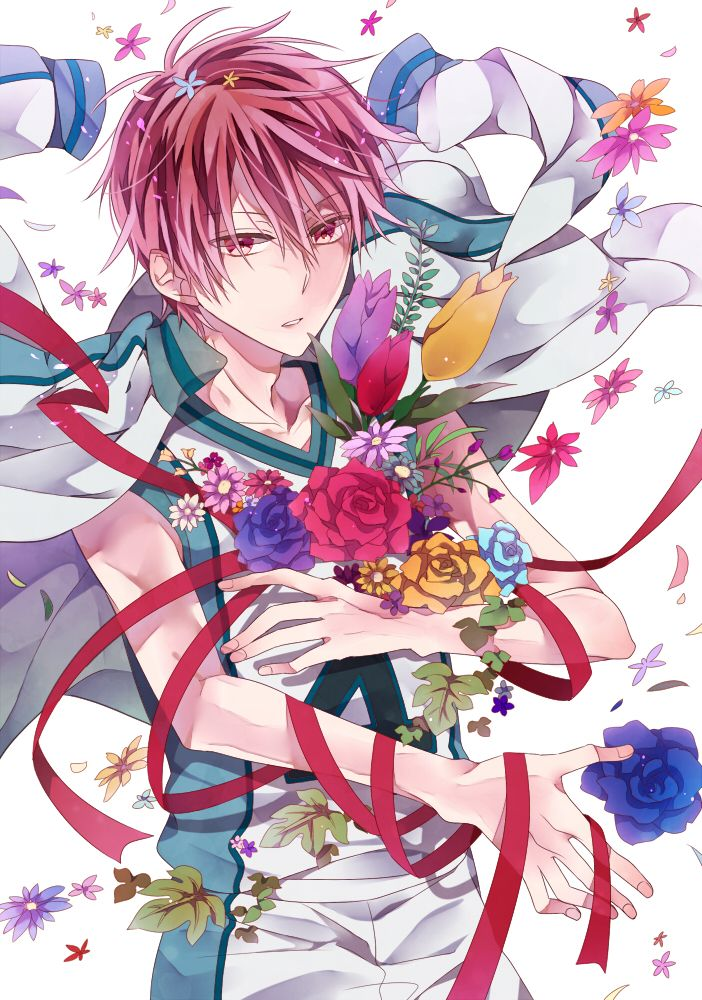 Výsledek obrázku pro Akashi seijuro with flowers