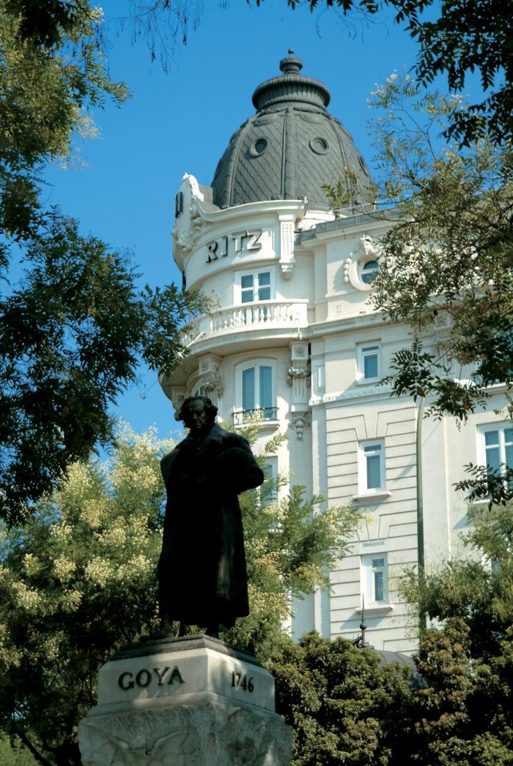 Goya's Monument and Ritz Hotel, Madrid