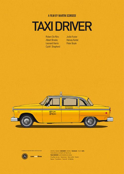 Cars from Movies - Taxi Driver | #movieposter #design