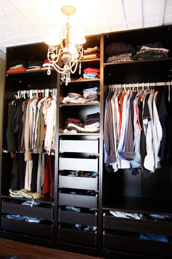 UPSTAIRS - IKEA closet system