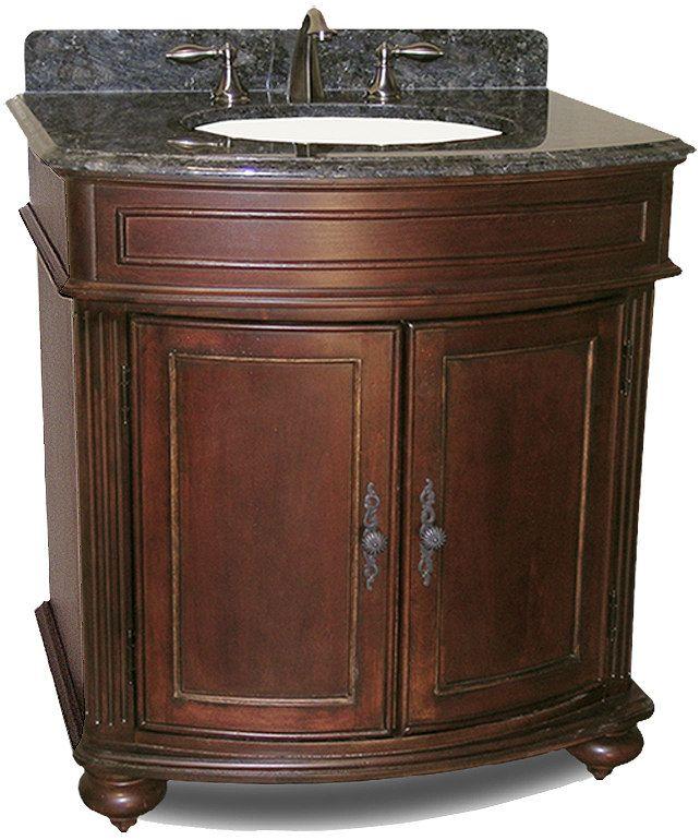 "Kaco Arlington 30"" Antique Bathroom Vanity Cherry Sherwin Williams Finish"