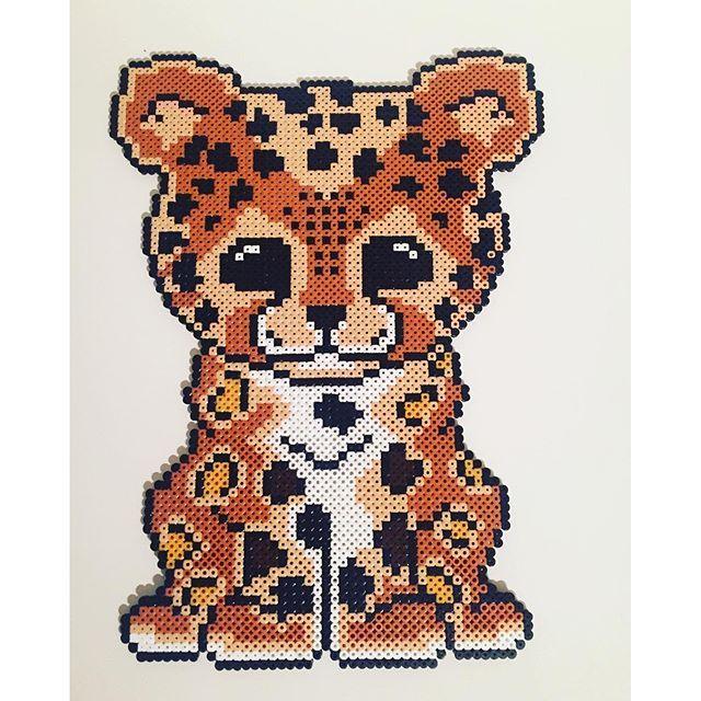 Leopard hama beads by leamk90 - Pattern: https://de.pinterest.com/pin/374291419013031074/