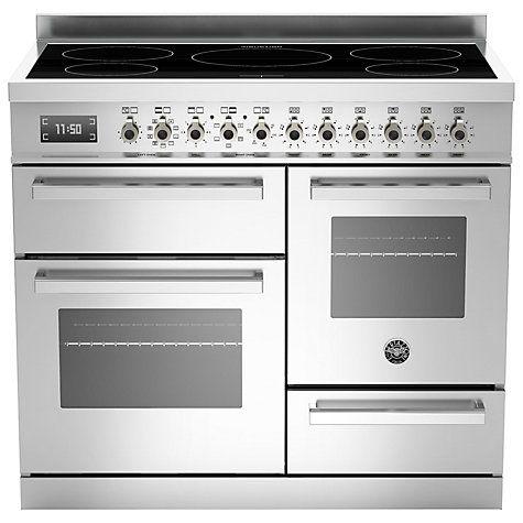 Buy Bertazzoni Professional Series 100cm Electric Induction XG Range Cooker Online at johnlewis.com