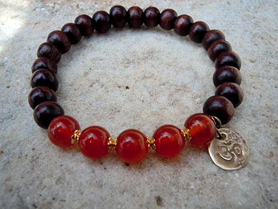 Confidence and Initiative / Yoga Bracelet / Wrist Mala by Syrena56, $26.00
