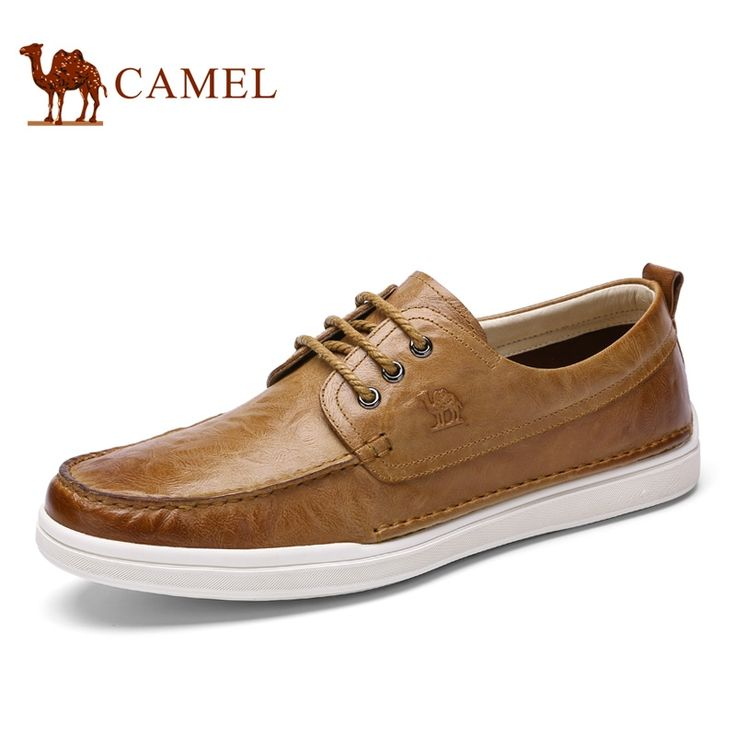 105.00$  Buy here - http://alib1u.worldwells.pw/go.php?t=32790049159 - Camel men's  casual leather shoes vintage fashion genuine leather shoes