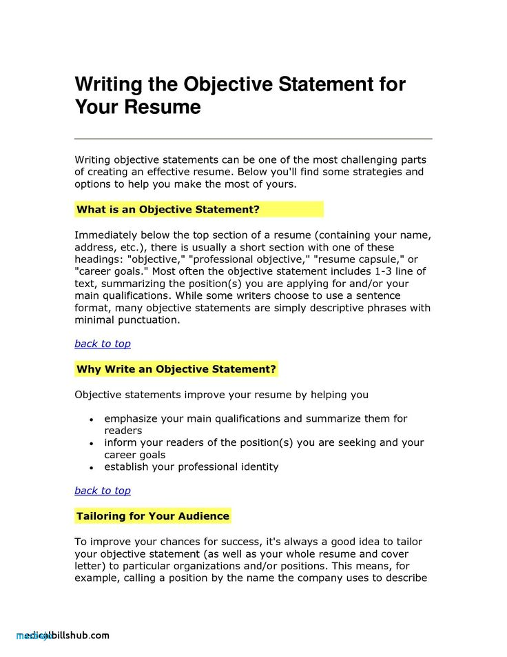 79 best of photos of resume objective examples in